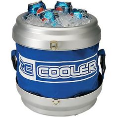 The remote control cooler leaves the dog to better use, like fetching your slippers instead of your beverage. Remain in the couch-potato position and drive a cold one to you using the remote control. Bottle cap-shaped handheld remote moves cooler forward, backward, left and right. Works indoors and out. Completely collapsible for easy storage.