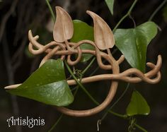 Vine Leaves Shawl Pin or Hair Slide, Handmade Alder Wood Shawl Pin, Handcarved Vine Leaf Hair Accessories on Etsy, Sold