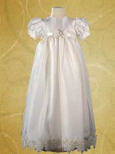 Jasmine Silk Christening Gown