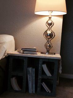 Cinder block nightstand )))