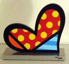 Romero Britto - Heart Sculpture