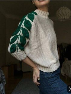 Botanical sweater # sweater embroidery knitted ideas - Knitting New Look Fashion, Winter Fashion, Fashion Outfits, Womens Fashion, Classic Fashion, Knit Fashion, Fashion Sewing, Petite Fashion, Unique Fashion