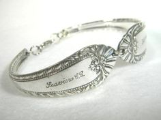 I love jewelry made from antique silverware! This spoon braclet is so much prettier than the one I have. I love that it has a clasp!