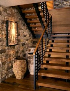Cool 100+ Extraordinary and Unique Rustic Stairs Ideas https://buildecor.co/02/100-extraordinary-unique-rustic-stairs-ideas/