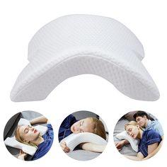Memory Foam Bedding Pillow Anti-pressure Hand Pillow Neck Protection Slow Rebound Multifunction Pillow Home Silk Couple Pillow Vértebra Cervical, Cervical Vertebrae, Sore Neck, Neck Pain, Foam Pillows, Bed Pillows, Cushions, Memory Pillows, Form Design