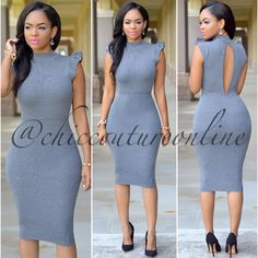 Love the keyhole back Simple Dresses, Elegant Dresses, Casual Dresses For Women, Cute Dresses, Classy Outfits, Chic Outfits, Chic Dress, Dress Up, Dress Skirt