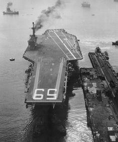 USS Forrestal at Newport News Shipbuilding #AircraftCarrier #Historic