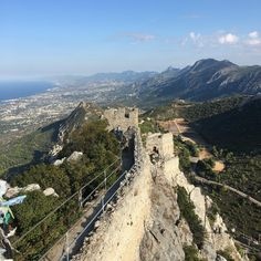 A view to die for which you almost do on the way up. Especially in ballerinas. This is the Turkish side of Cyprus.  #roadtrip #castle #mountains Mountain S, Cyprus, Ballerinas, Grand Canyon, Road Trip, Castle, Europe, Nature, Travel