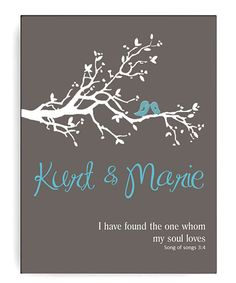 This Gray 'My Soul Loves' Personalized Canvas Print by JDS Marketing is perfect! #zulilyfinds