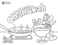 Chanukah, Hanukkah coloring pages. Jewish..