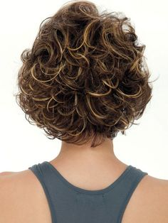 Hair styles Meryl by Estetica - Beautiful Short Curly Haircuts Cute Curly Hairstyles, Short Curly Haircuts, Short Wavy Hair, Curly Hair Cuts, Short Haircut, Curly Hair Styles, Medium Length Curly Hairstyles, Mid Hairstyles, Medium Hairstyle
