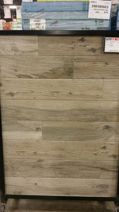 Soft Greige Wood Plank Porcelain Tile 6in X 40in