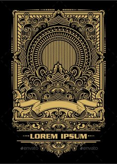 Buy Classic Ornament Backround by CPYdesign on GraphicRiver. Lettering Design, Logo Design, Graphic Design, Tribal Lion Tattoo, Indonesian Art, Typography Art, Vintage Frames, Mandala Design, Graffiti Art