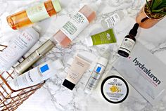 Top skincare products for dehydrated, dull, dry skin.  Aurelia cleanser review. La Roche Posay Toleriane cleanser and moisturiser review. Pixi glow tonic review. Lilyth D'ore Optimum Serum Review. The Ordinary Hyaluronic acid review. Dr. Botanicals Super food oil review. Hydraluron sheet mask review. Origins Drink it up mask review. The Body honey and oat mask review.  Mario Badescu Facial spray review.