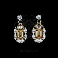 Anton Heunis 'Alexis' Gold & Clear Cluster Earrings (ALX3.10)   Alexandra May Jewellery