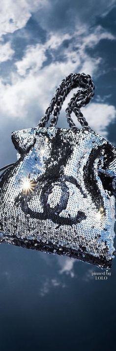 Chanel Sequin Silver Bag | LOLO❤︎