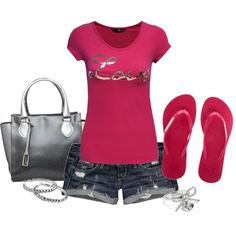 """""""Love in Hot Pink"""" by jewhite76 on Polyvore"""