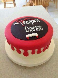 The vampire diaries cake! vampire diaries, cake и va Vampire Diaries Funny, Vampire Diaries Cast, Vampire Diaries The Originals, Vampire Party, Vampire Daries, Movie Cakes, Katerina Graham, Vampire Diaries Wallpaper, Cookies Et Biscuits