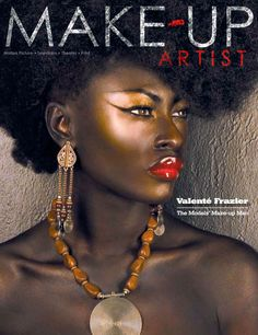 Her red lips are absolutely stunning! Love the size! Flawless chocolate skin!
