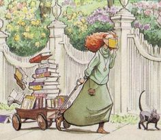 coming home from a book sale :) I would never drop mine though!!!