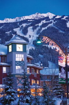 "Whistler, Canada ~ ""Whistler is a all year round alpine resort town located in British Columbia, Canada accommodating almost 10,000 residents. One of the many things that makes Whistler so special in winter is two unbelievable mountains - Whistler and Blackcomb."""