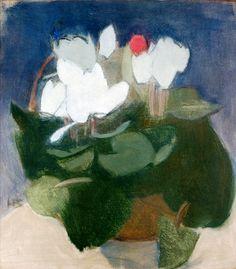 Helene Schjerfbeck - Syklaami on canvas  Helene Schjerfbeck, Helsinki, Watercolor Flowers, Watercolor Art, Painting Inspiration, Female Art, Painting & Drawing, Flower Art, Poster Prints