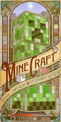 """Buy Minecraft Computronic Wall Poster online and save! Minecraft Computronic Wall Poster Minecraft is a sandbox indie game originally created by Swedish programmer Markus """"Notch"""" Persson and later develop. Minecraft Mods, Minecraft Kunst, Minecraft Posters, Cool Minecraft, Minecraft Houses, Minecraft Crafts, Creeper Minecraft, Minecraft Wall, Minecraft Decorations"""