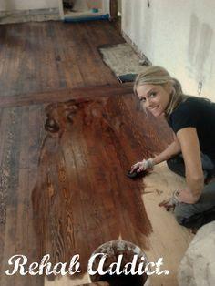 Rehab Addict. Love her. Wood floors.