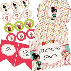 Wreck It Ralph Sugar Rush party printable by LittleDoodlePrints, $15.00