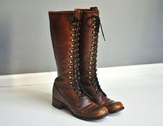 Vintage Frye Lace Up Huntress Boots  Size 8A or by thewhitepepper