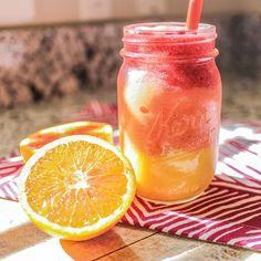 Paleo Tropical Sunrise Orange, Mango, Banana, Strawberry Smoothie Recipe - www.americanexpeditioners.com