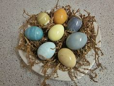 Avoid chemicals and additives in store bought dyes and make your own! Or this could simply be a little lesson for the kids to how eggs wer...