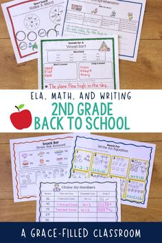 Get your school year started with your 2nd grade students with these easy to use back to school printables. Use during the first week to review first grade skills in foundational skills, math, and writing. These are skills that a 2nd grader should be able to do independently making it perfect for the first few days of school when you're teaching and practicing rules