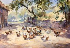 """When Summer comes again "" watercolour by Trevor Waugh"