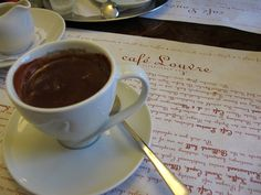 Best Hot Chocolate in the world. Cafe Louvre, Prague.