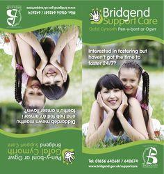 Bridgend Support Care Team leaflet #bridgend #graphic #design #leaflet #support #care #team