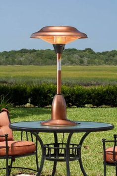 Copper Finish Table Top Round Halogen Patio Heater