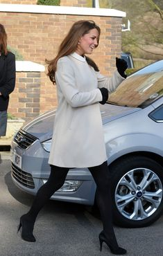 Love this cream colored swing coat! Duchess Kate