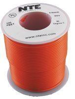 NTE WH18-03-100 100 Foot 300 VHU 18 AWG Stranded Wire (Orange) by NTE. $15.97