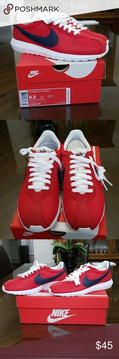 Nike Womens Roshe LD-1000 QS Red New Size 8.5 Nike Womens Roshe LD-1000 QS Red New Size 8.5  Never been used.  UPPER: Mesh and synthetic leather MIDSOLE: IU foam, Ortholite sockliner OUTSOLE: Rubber with deep flex grooves in the forefoot Nike Shoes Sneakers