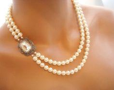 Flores collar nupcial collar de la boda joyería por treasures570