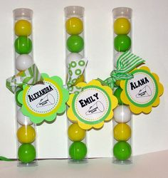 Cheerleading Gumball Party Favors for girl's birthday parties Match school colors. Cheerleading Gifts, Cheer Gifts, Cheer Mom, Team Gifts, Cheer Stuff, Cheerleader Gift, Cheer Spirit, Spirit Gifts, Girl Birthday