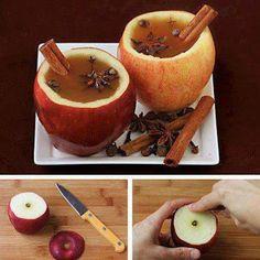 Cómo preparar un Té de Manzana con Canela, Anís estrellado y Clavo de olor.