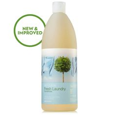 Fresh Laundry Concentrate (liquid) 32 oz. | Laundry | Household Cleaning | Green Home | Shaklee US site Health 2020, How To Eat Better, Fresh And Clean, Green Cleaning, Laundry Detergent, Clean House, Biodegradable Products, Fragrance, Household