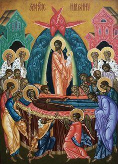 Zaśnięcie Byzantine Icons, Blessed Virgin Mary, Orthodox Icons, Sacred Art, Religious Art, Sunday School, Madonna, Special Day, Holi