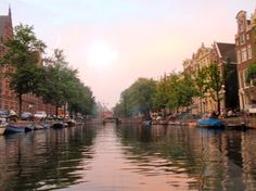 Enjoy a sunset on the canals #amsterdam #travel