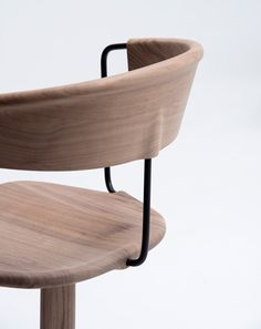 Bouroullecs present carved wooden Uncino chairs at Salone Internazionale del Mobile