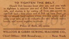 WILLCOX & GIBBS, WILLCOX & GIBBS CHAIN STITCH SEWING MACHINE W&G