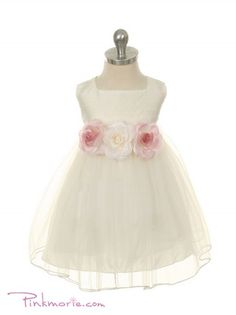 Ivory Silk Bodice with Tulle Skirt Baby Girl Dress