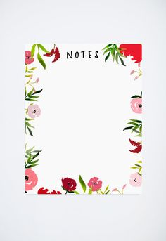 All of my original designs are hand painted watercolor. This adorable notepad will help you keep track of your daily tasks! Great for gifts and stocking stuffers. Size is 4.25 x 5.5.